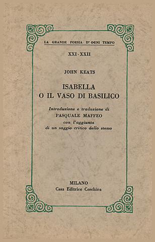 Дж. Китс. Изабелла, или горшок с базиликом.