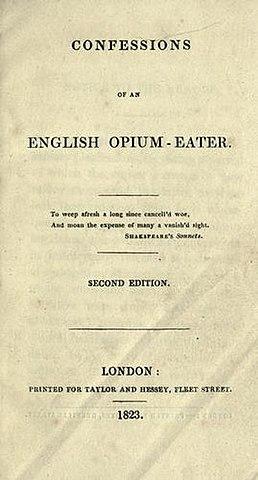 Т. де Квинси. Исповедь англичанина, употребляющего опиум.