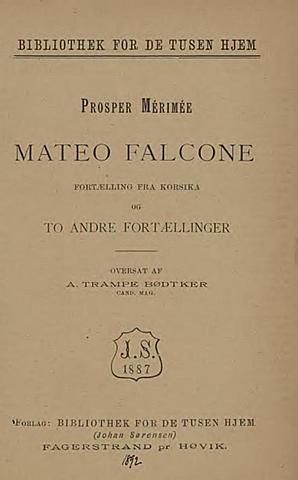 Проспер Мериме. Маттео Фальконе.