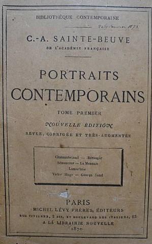 Сент-Бев Ш.О. Литературные портреты.