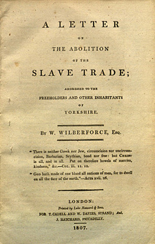 Abolition of slave trade act/Abolition of slavery act