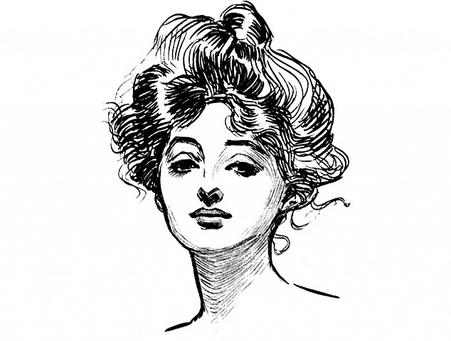 First Gibson Girl Painting