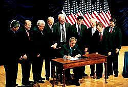 George W. Bush Bans Abortion Aid