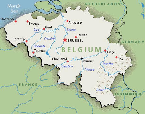 Invasion against Belgium