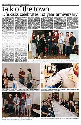 LR Anniv Dinner featured in SunStar Pampnga