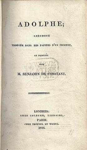 Бенжамин Констан. Адольф