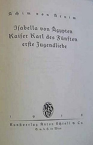 А. фон Арним. Изабелла Египетская