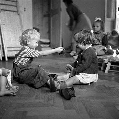 Ein Privatkindergarten um 1949