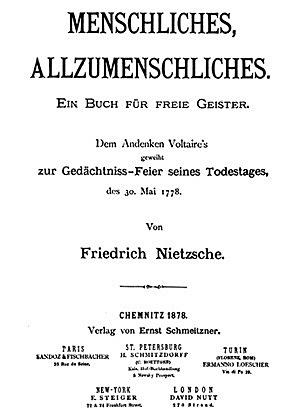 Ницше. еловеческое, слишком человеческое. Книга для свободных умов
