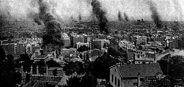 Comité revolucionari de vaga: 1r. Incendi d'edifici religiós