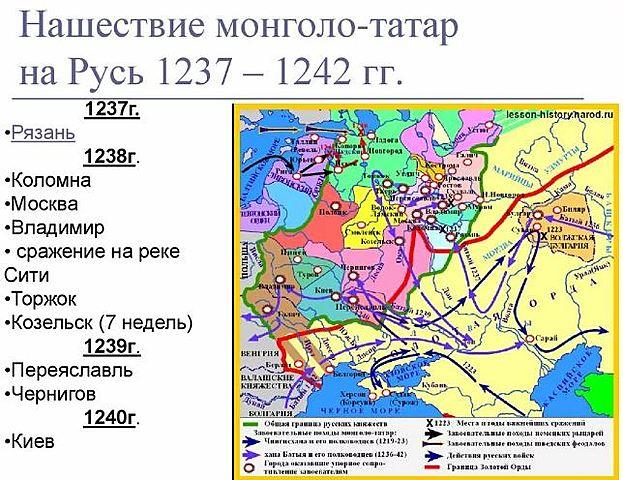 Татаро-монгольское нашествие на Северо-Восточную Русь