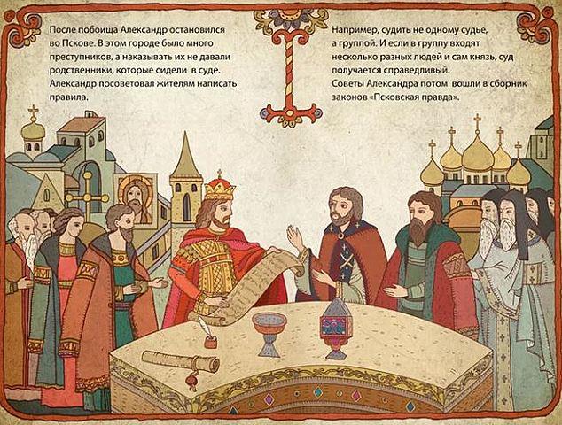 Написание Псковской законодательной грамоты