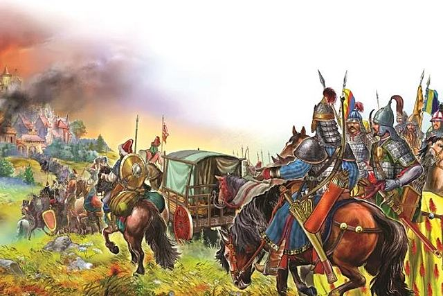Установление  татаро-монгольского ига над русскими княжествами