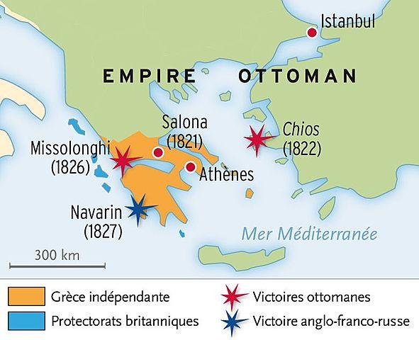 לאומיות NATIONALISME : guerre indépendance de la Grèce (contre l'empire Ottoman)