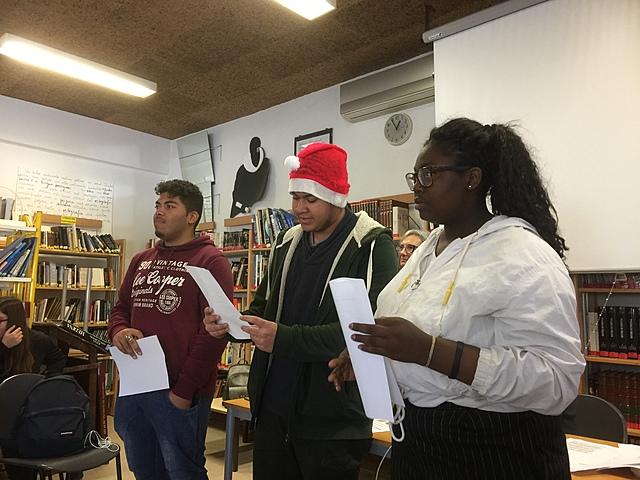 Sessão de poesia de Natal