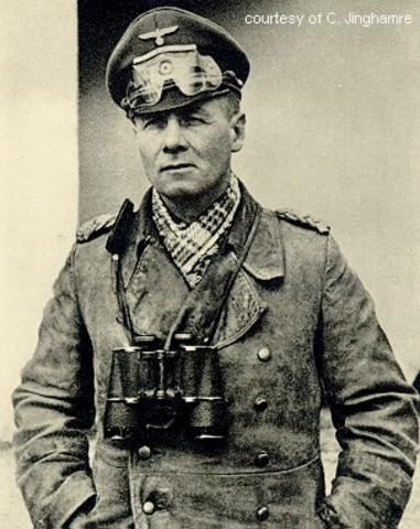 "General Erwin Rommel and German ""Afrika Korps"" send to aid Italians"