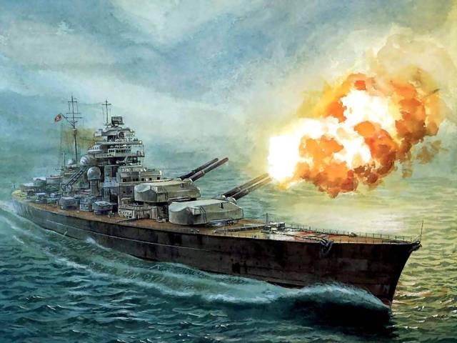 Battleship DKM Bismarck sunk by British Royal Navy