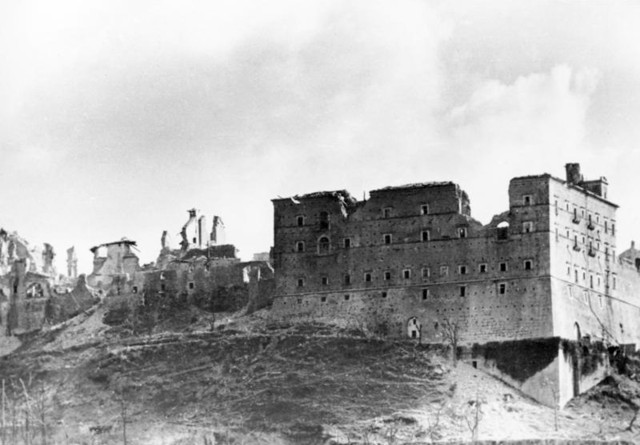 Allies launch assault on Monte Cassino, German Fallschirmjager hold off Allied Army for 5 months