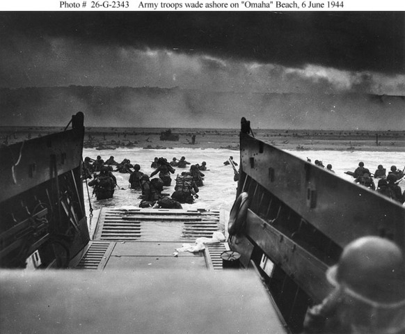 D-Day landings on Normandy Beach; Western Front begins