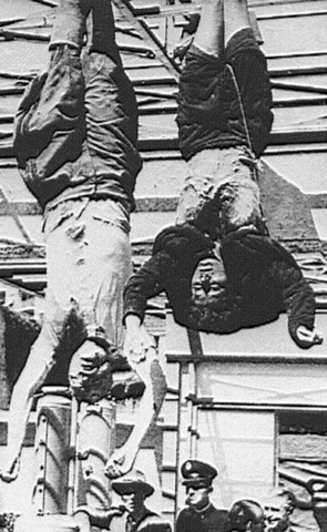 Mussolini hung by partisans; Venice captured by Allies