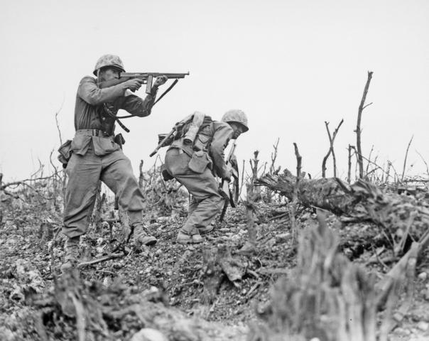 Marines invade Okinawa