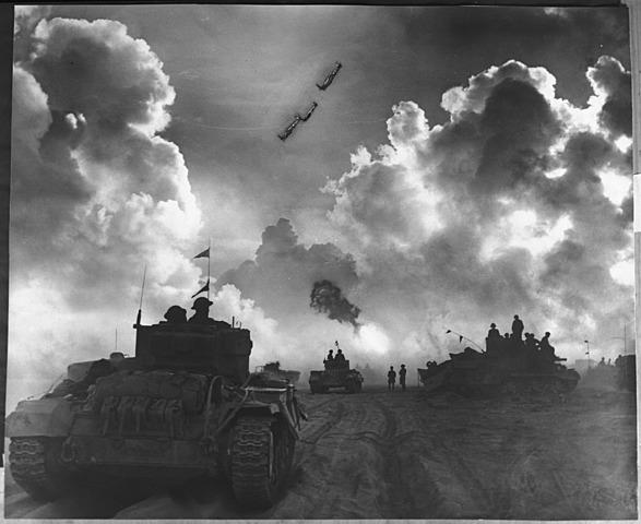 Bitka pri El Alameinu(Velika Britanija, Italija-kasneje pristopi še general Ervin Romel-puščavski lisjak)