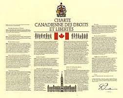 Charte canadienne des droits et libertés entre en vigueur