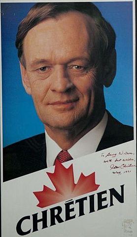 Élection de Jean Chrétien au poste de chef du Parti libéral du Canada
