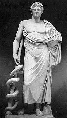 Culto de Asclepio.