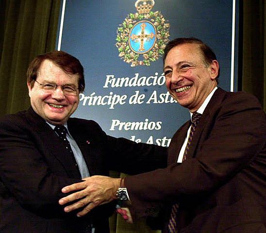 Robert Gallo y Luc Montagnier