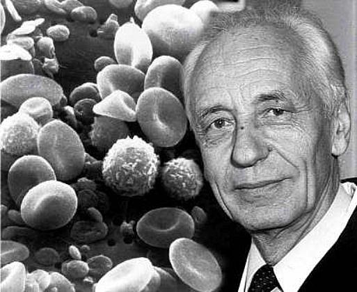 Jean Dausset descubrió en la superficie de los leucocitos un antígeno relacionado con la histocompatibilidad.