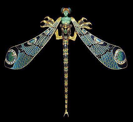 Mujer libélula - René Lalique