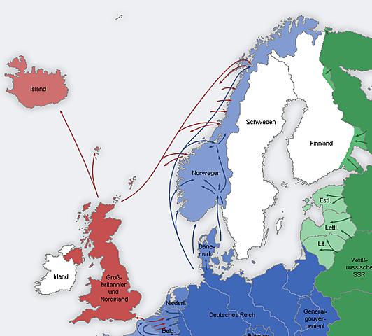 Norge blir okkupert av Tyskland