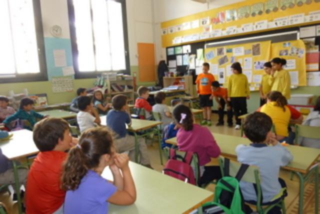 Exposicions dels alumnes de 4t als nens de 1er sobre la biodiversitat