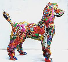Maëva-Lina - Recyclage / Les sculptures recyclées de Robert Bradford