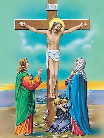 Jesus blir korsfestet