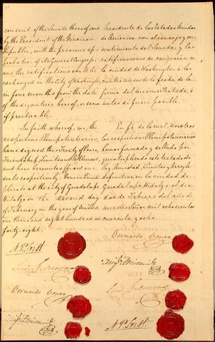 1848 Treaty of Guadelupe Hidalgo