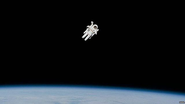 'Free-flying' in space