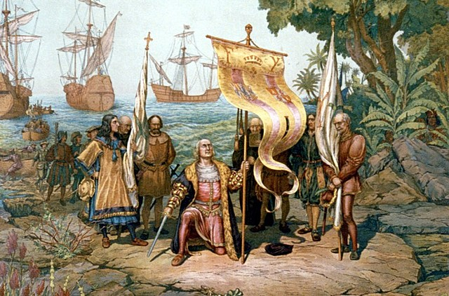 Cristobal Colon discover America