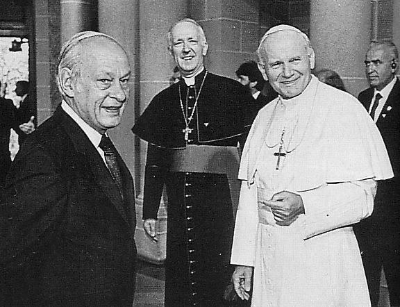 Visite du Pape Jean Paul II