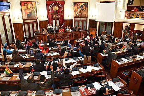 El MAS en el Legislativo sanciona Ley de Cumplimiento de DDHH y espera su promulgación