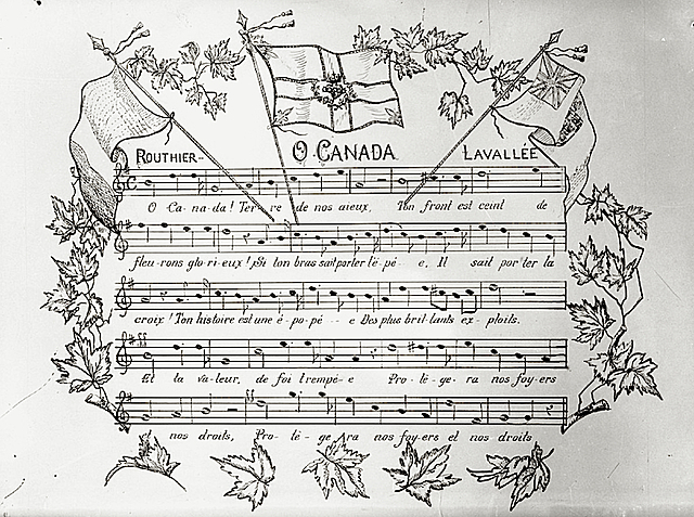 Adoption de l'hymne national