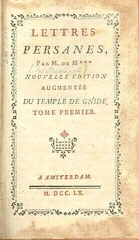 Montesquieu: Gutun Pertsiarrak
