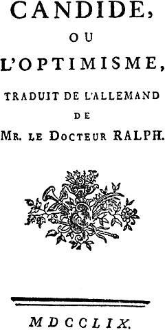 Voltaire: Kandido eta baikortasuna