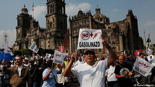 Protesta contra el alza de la gasolina (2017)