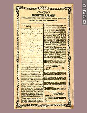 Création du journal Le Moniteur acadien