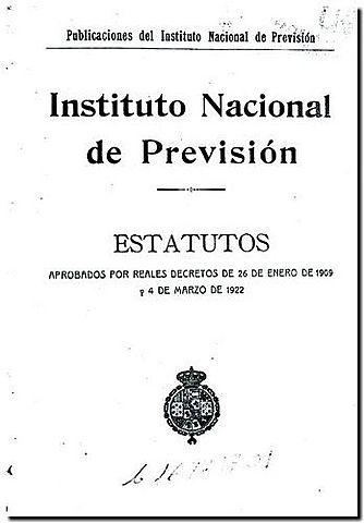 Creació de l'Institut Nacional de Previsió