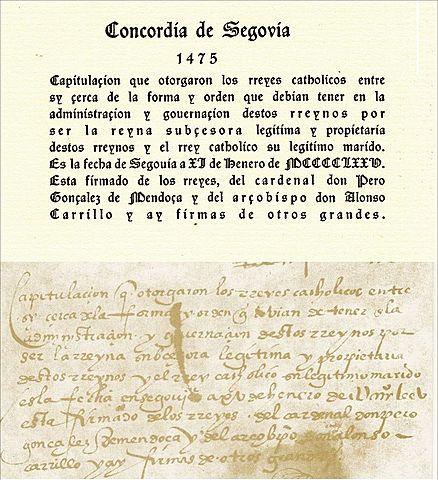 La Concordia de Segovia