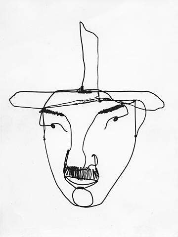 "Triay - naturel / artificiel / Alexander Calder: ""Portrait de Fernand Léger"" (1930, 420 x 380 mm)"