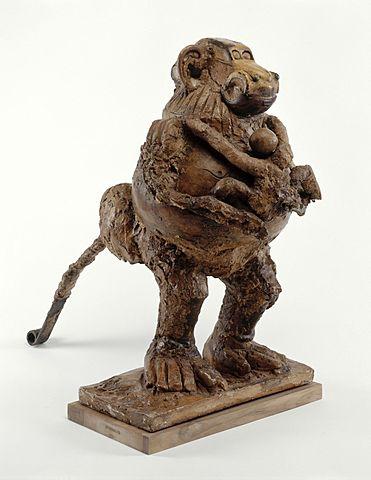 """Prof - Homogène / hétérogène / Pablo Picasso: """"La guenon et son petit"""" (assemblage en métal, plâtre, céramique; 0.56 m x 0.34 m x 0.71 m; musée national Picasso – Paris)"""